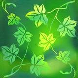 Dekorative Baumblätter - Innen-wallpape lizenzfreie abbildung