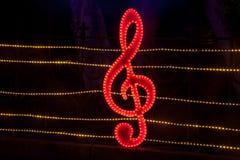 Dekorative Beleuchtung im Laterne-Festival Stockbild