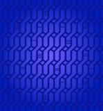 Dekorative Beschaffenheit aufwändiger geometrischer tiefer blauer Muster Netzes nahtloser Korbwaren Hintergrund für Designgewebe vektor abbildung