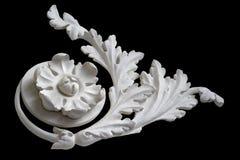 Dekorative Blume mit Blättern Stockbild