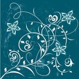 Dekorative Blumen auf Farbenhintergrund lizenzfreie abbildung