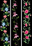 Dekorative Blumen im Staatsangehörigen Stockfotos