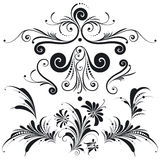 Dekorative Blumenauslegung-Elemente Stockfotos