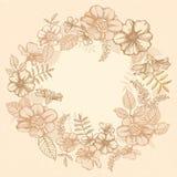 Dekorative Blumenkarte Stockfotos