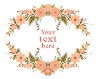 Dekorative Blumenkartenschablone Lizenzfreie Stockfotos