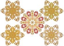 Dekorative Blumenverzierung in der Ostart Lizenzfreies Stockbild