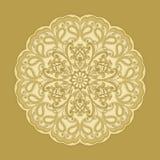 Dekorative Blumenverzierung in der Ostart Goldene Mandala Stockfotografie