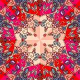 Dekorative Blumenverzierung Helles Muster Stockfotos