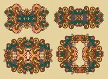 Dekorative Blumenverzierung vier Stockbild