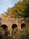 Dekorative Brücke Rivington-Gärten stockbild