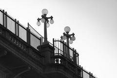 Dekorative Brücken-Lichter stockfoto