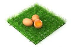 Dekorative braune Eier lizenzfreie stockbilder