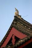 Dekorative chinesische Fassade Stockfoto