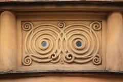 Dekorative Dekoration auf dem Art Nouveau-Gebäude Lizenzfreie Stockbilder