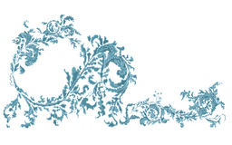 Dekorative dekorative blaue mit Blumenfarbe Stockfotografie