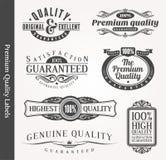 Dekorative dekorative Embleme der Qualität Lizenzfreie Stockfotografie