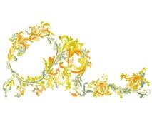 Dekorative dekorative klassische mit Blumenfarbe Lizenzfreie Stockbilder