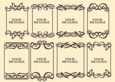 Dekorative Designgrenze der Weinlese Stockfoto