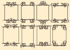 Dekorative Designgrenze der Weinlese Stockbild