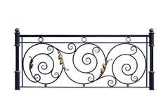 Dekorative Eisengeländerdocken, Zaun Stockbilder