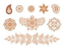 Dekorative Elementblumen und -paisley Lizenzfreies Stockfoto