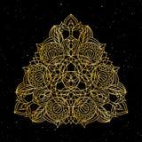 Dekorative Elemente der Weinlese Genossenschaftliche Art, vektorabbildung Dekoratives Blumen Stockfoto