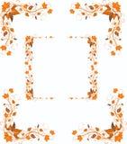 Dekorative Elemente des Herbstes im Retrostil Lizenzfreies Stockfoto