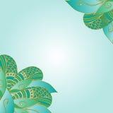 Dekorative Elementecken Hand gezeichnete abstrakte Einladungskarte Stockfotografie