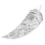 Dekorative Feder Zentangle lizenzfreie abbildung