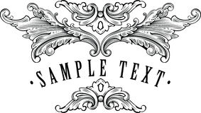 Dekorative Feldschablone der Weinlese für Ihren Namen Lizenzfreie Stockfotos