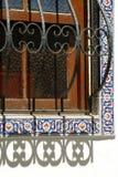 Dekorative Fenstergrills Stockfotos