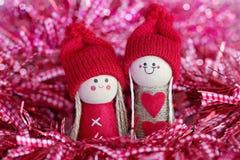 Dekorative Figürchen des Weihnachtsspaßes Stockfotografie