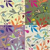 Dekorative Fliese mit Blumenmotiv stock abbildung