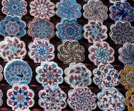 Dekorative Fliesen von varous Farben Lizenzfreie Stockbilder