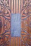 Dekorative Formulare über Holz Stockfotos