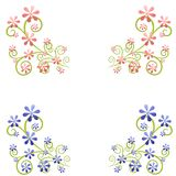 Dekorative Frühlings-Blumen-Auslegung-Elemente Lizenzfreie Stockfotos