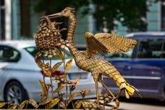 Dekorative geschmiedete Elemente für die Verarbeitung von modernen Metalltoren Stockfotografie