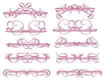 Dekorative Gestaltungselemente der Weinlese Stockbilder
