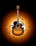 Dekorative Gitarrenabbildung Stockbild