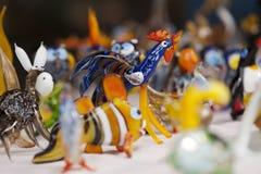 Dekorative Glaszahlen des Handwerks Stockfoto