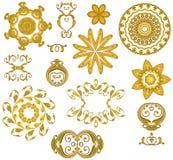 Dekorative Goldweb-Ikonen