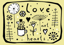 Dekorative grafische mit Blumenelemente - Vektormuster Stockfotos