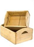 Dekorative hölzerne Kisten Stockfotografie