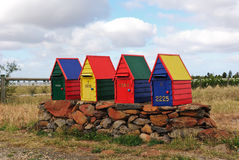 Dekorative handgemachte Landmailbox Stockfoto