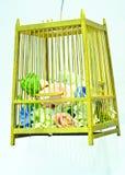 Dekorative Hochzeitsblumen in einem Käfig Lizenzfreie Stockfotos