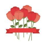 dekorative Ikone der netten Blume Lizenzfreies Stockbild