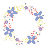 Dekorative Illustration des Blumenkranzes Stockbilder