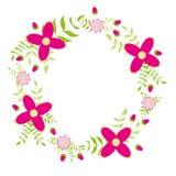Dekorative Illustration des Blumenkranzes Lizenzfreies Stockbild