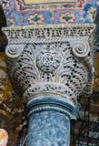 Dekorative Innenspalte von Museum Hagia Sophia lizenzfreie stockfotografie