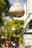 Dekorative Kürbislampen Lizenzfreies Stockbild